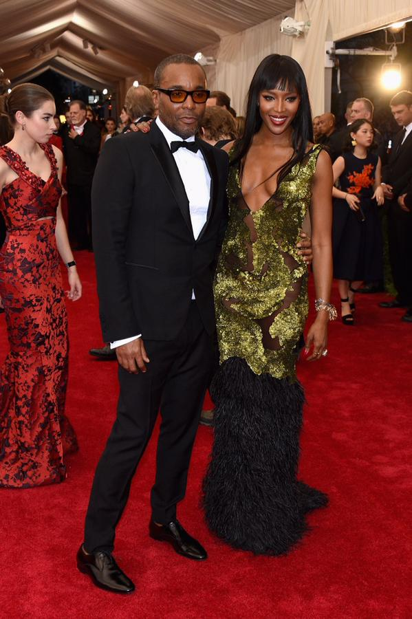 Lee Daniels and Naomi Campbelli in Burberry