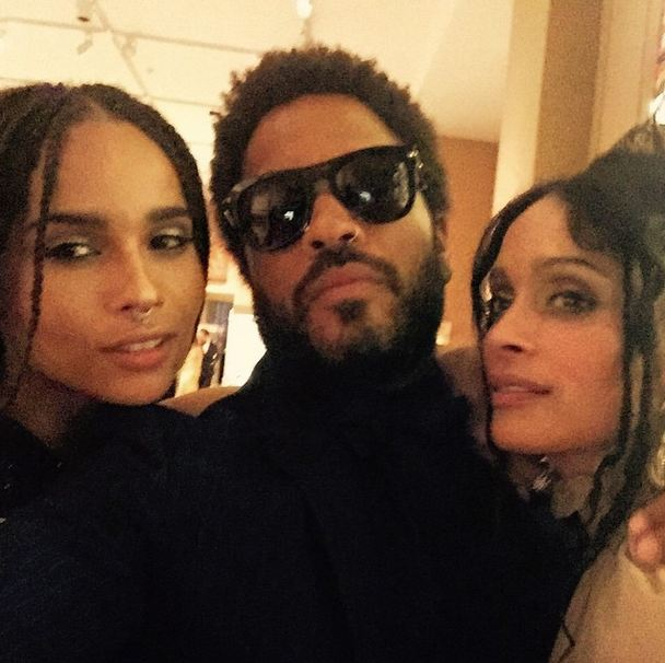 It was a family affair for Lenny and Zoe Kravitz with her mom Lisa Bonet.