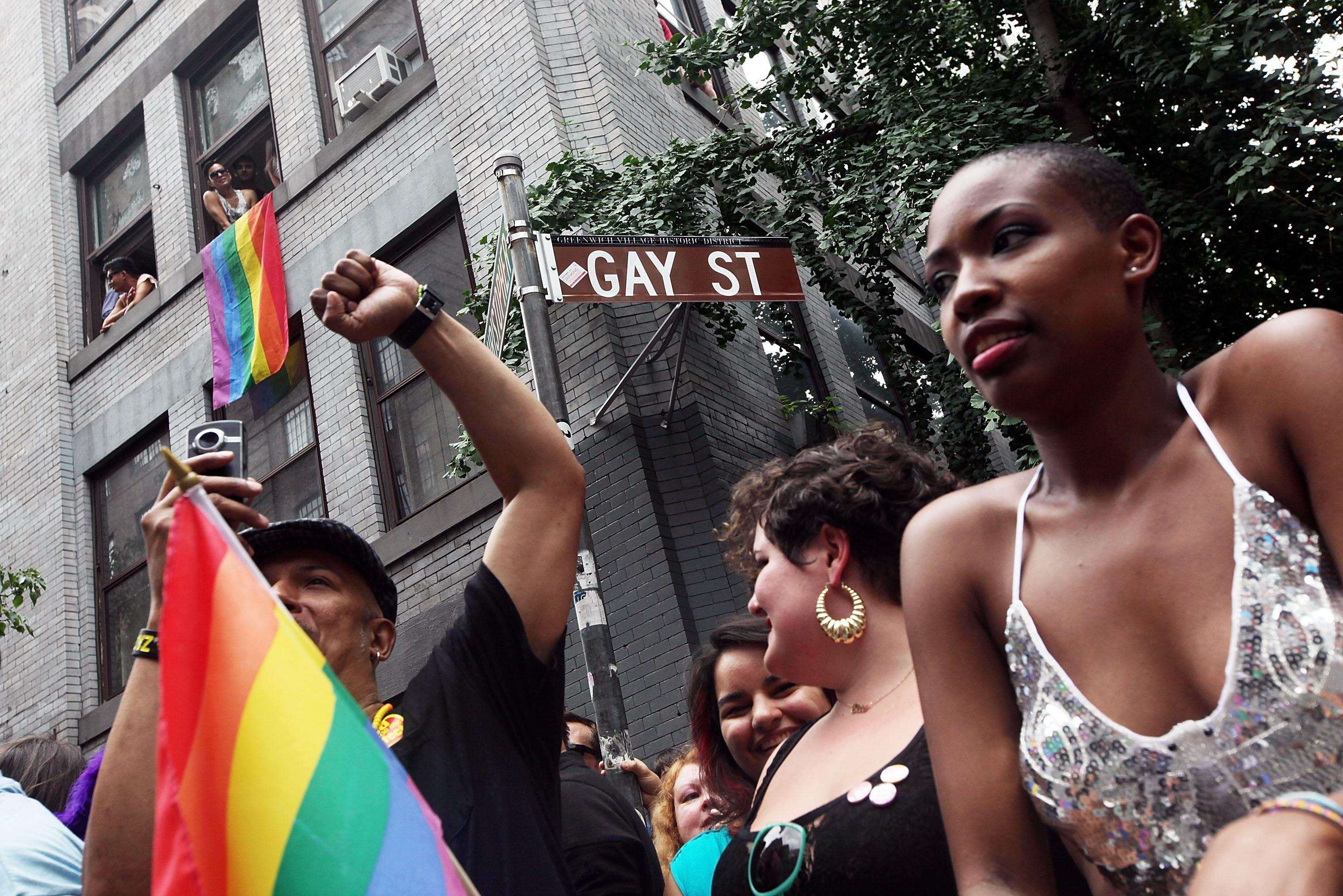 New York's Gay Pride Parade Celebrates Passage Of Same-Sex Marriage Law