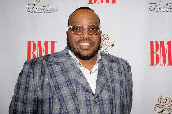 Marvin Sapp with his son