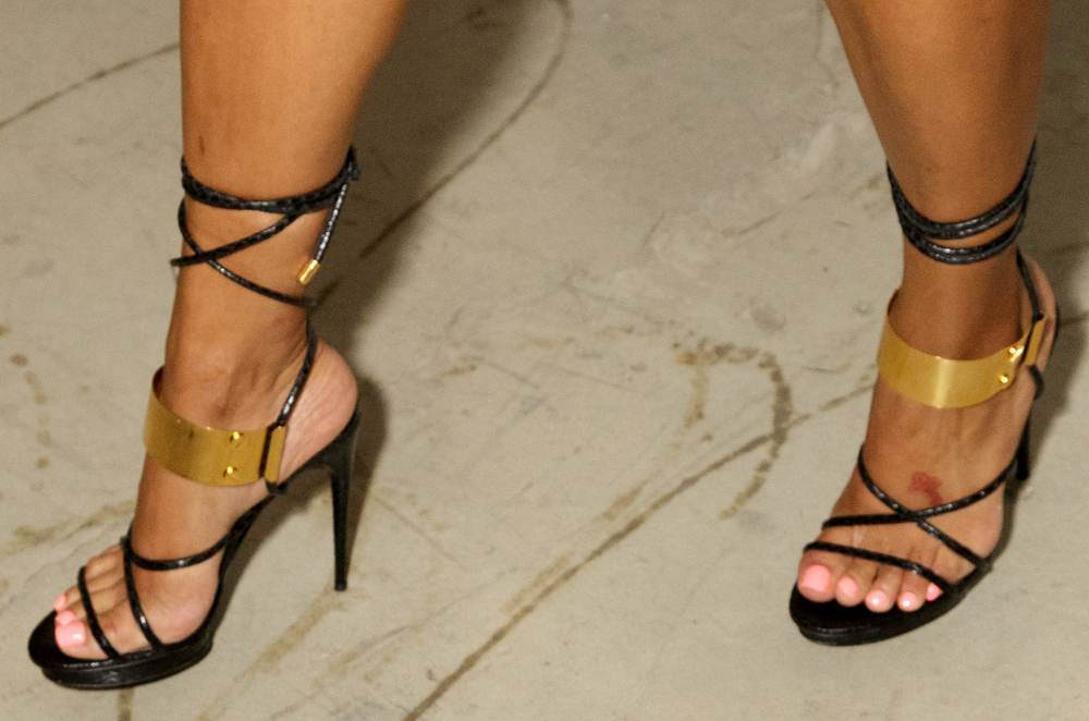 High arched ebony feet
