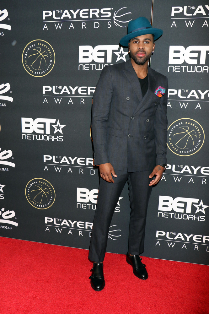 07/19/2015 - Jason Derulo - Inaugural Players' Awards Hosted by BET & NBPA - Arrivals - Penn & Teller Theater in the Rio Las Vegas Hotel and Casino - Las Vegas, NV, USA - Keywords: Vertical, Jason Joel Desrouleaux, Jason Desrouleaux, American singer, songwriter, dancer 2015 BET Presents The Players' Awards, 1st Annual Players' awards show, Nevada, Award, Arts Culture and Entertainment, NBA Pro Basketball, Attending, The Players Championship, Presented By Black Entertainment Television, BET Networks, NBA, National Basketball Players Association, NBPA, Celebrity, Celebrities, Red Carpet Arrival Orientation: Portrait Face Count: 1 - False - Photo Credit: PRN / PRPhotos.com - Contact (1-866-551-7827) - Portrait Face Count: 1
