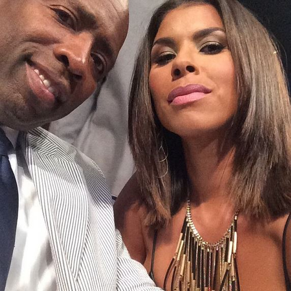 Kenny 'The Jet' Smith and his wife Gwen