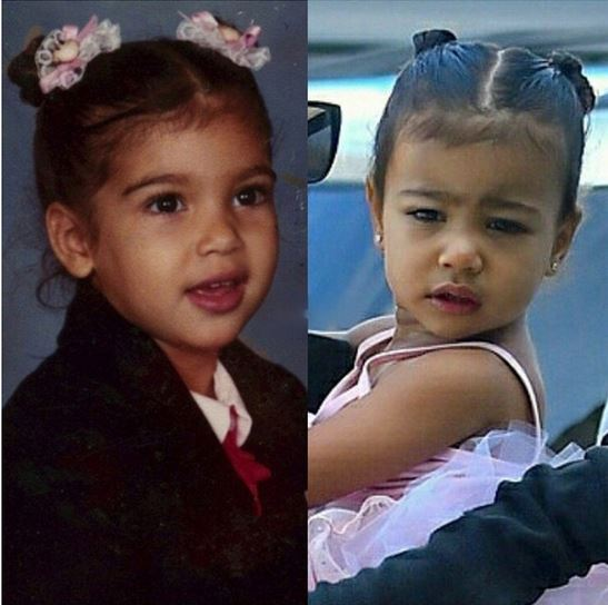North West and her mom Kim Kardashian West