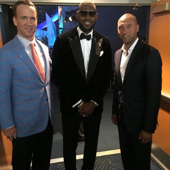 Lebron James, Peyton Manning and Derek Jeter