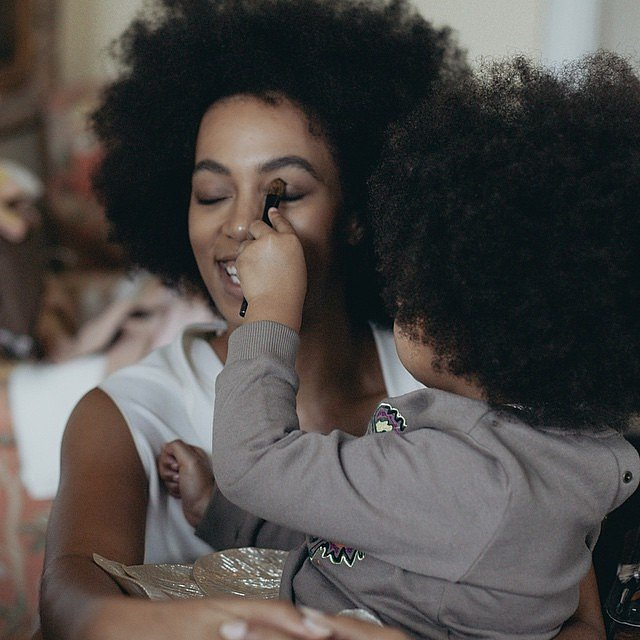 Solange Knowles is auntie to Blue Ivy Carter.