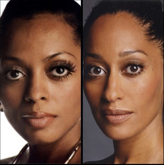 Tracee and her mom Diana Ross