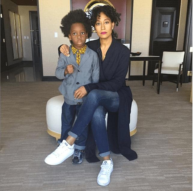 Tracee Ross and her nephew, Raif-Henok