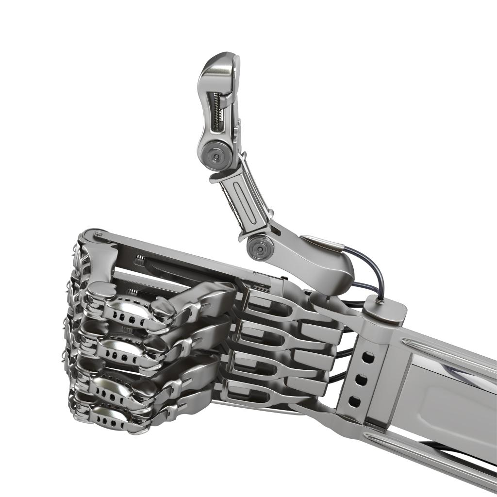 robot hand ok sign