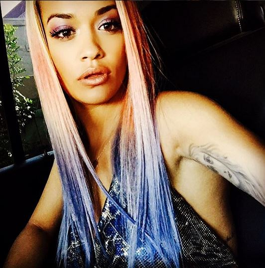 Rita is now rocking a pink and purple ombre effect.