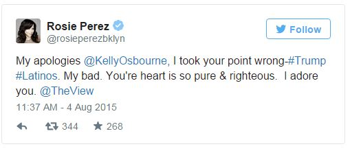 Kelly Osbourne' Apologizes For Racist Latino Comment In Trump Diss