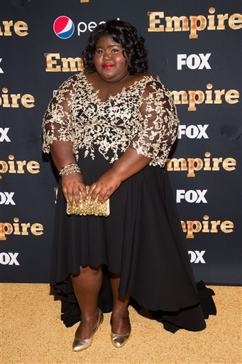 "Gabourey Sidibe attends the ""Empire"" season two premiere on Saturday, Sept. 12, 2015, in New York. (Photo by Charles Sykes/Invision/AP)"