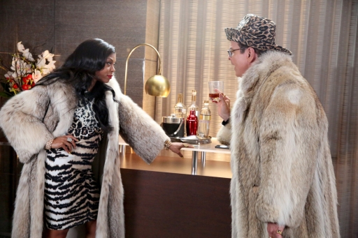 """THE TONIGHT SHOW STARRING JIMMY FALLON -- Episode 0334 -- Pictured: (l-r) Taraji P. Henson and Steve Higgins during the """"Jimpire"""" skit on September 22, 2015 -- (Photo by: Douglas Gorenstein/NBC)"""