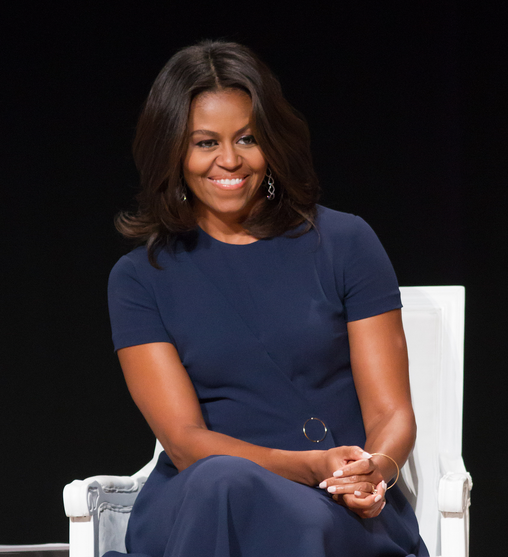 """09/29/2015 - Michelle Obama - Glamour Hosts """"The Power of an Educated Girl"""" with First Lady Michelle Obama - Panel - The Apollo Theater - New York City, NY, USA - Keywords: """"Let Girls Learn"""", Vertical, Photography, NYC, Arts Culture and Entertainment, Celebrity, Celebrities, Panel, People, Person Orientation: Portrait Face Count: 1 - False - Photo Credit: Janet Mayer / PRPhotos.com - Contact (1-866-551-7827) - Portrait Face Count: 1"""