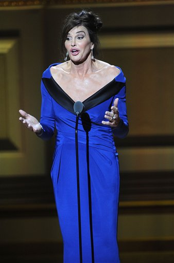 Caitlyn Jenner accepts The Transgender Champion award at the 25th Annual Glamour Women of the Year Awards at Carnegie Hall on Monday, Nov. 9, 2015, in New York. (Photo by Brad Barket/Invision/AP)