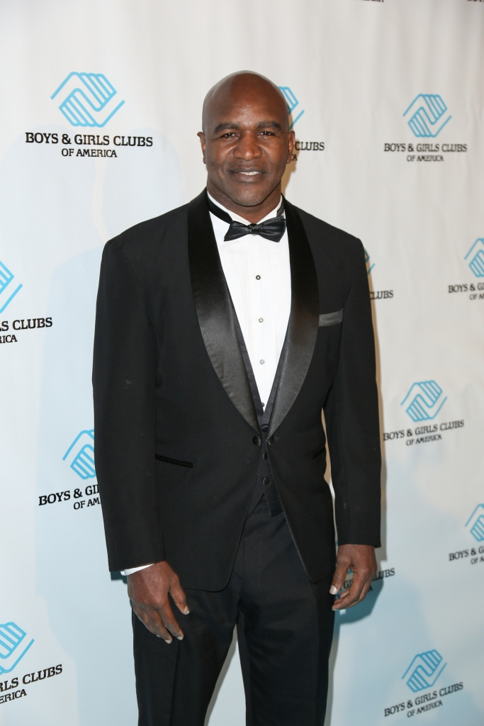 """11/04/2015 - Evander Holyfield - 2015 Boys & Girls Clubs of America Great Futures Gala - Champion of Youth Award Honoring Evander Holyfield - Arrivals - Beverly Hilton Hotel - Beverly Hills, CA, USA - Keywords: American former professional boxer, undisputed world championship in both the cruiserweight and heavyweight divisions, """"The Real Deal"""", vertical, sports, Red Carpet, Arrival, hollywood, los angeles, events, California, Red Carpet Event, Arts Culture and Entertainment, Attending, Celebrities, Celebrity, Person, People, Topix, Bestof Orientation: Portrait Face Count: 1 - False - Photo Credit: Guillermo Proano / PR Photos - Contact (1-866-551-7827) - Portrait Face Count: 1"""
