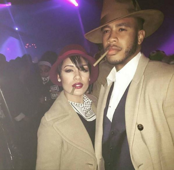 Grace Gealey and finace Trai Byers as Bonnie and Clyde