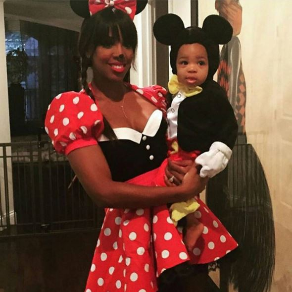 Kelly Rowland and Titan as Mickey and Minnie