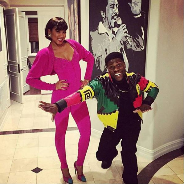 Kevin Hart and fiancee Eniko as Martin and Gina Payne