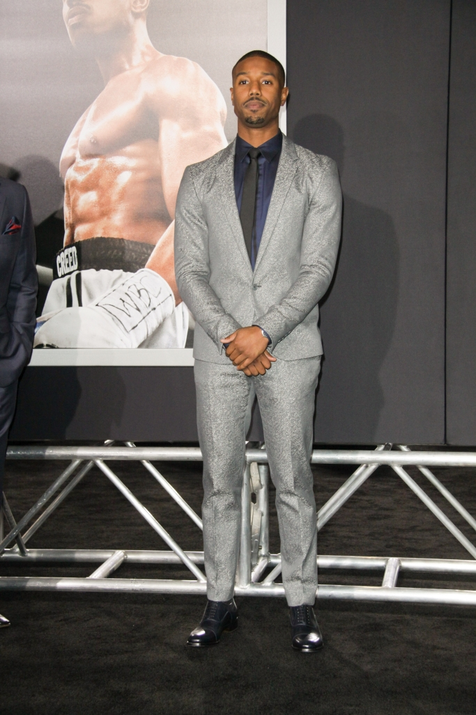 "11/19/2015 - Michael B. Jordan - ""Creed"" Los Angeles Premiere - Arrivals - Regency Village Theatre, 961 Broxton Avenue - Los Angeles, CA, USA - Keywords: Vertical, Movie Premiere, Film Premiere, Film Industry, Red Carpet Event, Arrival, Portrait, Photography, Arts Culture and Entertainment, Celebrities, Celebrity, People, Person, Topix, Bestof, Warner Bros. Pictures, Mann Village Theatre, Theater, Westwood, California Orientation: Portrait Face Count: 1 - False - Photo Credit: Izumi Hasegawa / PRPhotos.com - Contact (1-866-551-7827) - Portrait Face Count: 1"