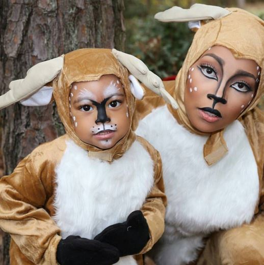 Monica Brown and daughter Layiah as Bambi and girl Bambi