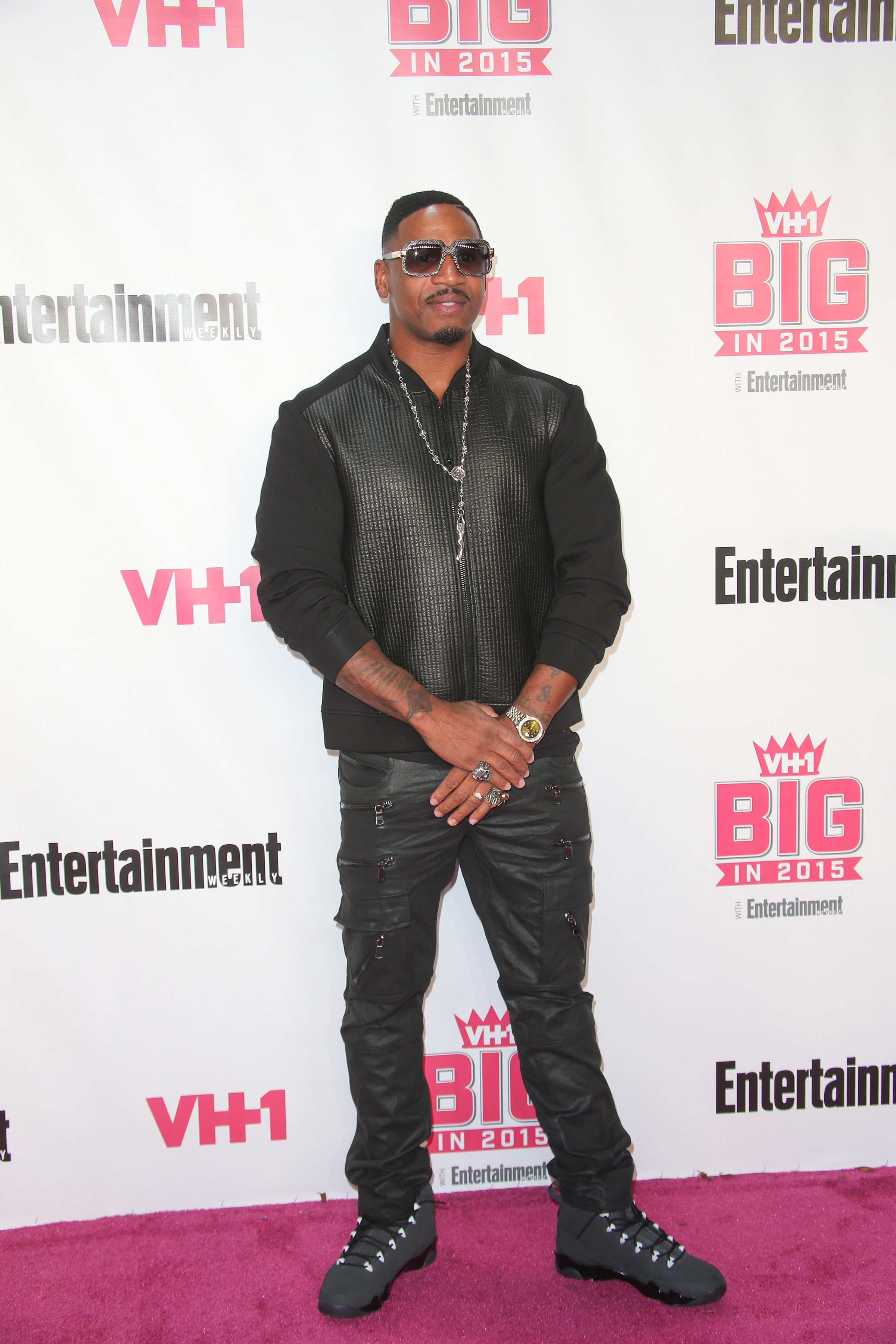 11/15/2015 - Stevie J - VH1 Big in 2015 with Entertainment Weekly Awards - Arrivals - Pacific Design Center - West Hollywood, CA, USA - Keywords: Vertical, Portrait, Photography, Arts Culture and Entertainment, Attending, EW, People, Person, Celebrities, Celebrity, Annual Red Carpet Event, Los Angeles, California Orientation: Portrait Face Count: 1 - False - Photo Credit: PRPhotos.com - Contact (1-866-551-7827) - Portrait Face Count: 1