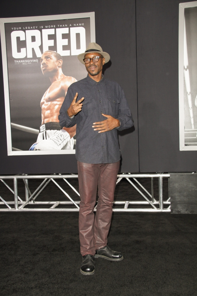 "11/19/2015 - Wood Harris - ""Creed"" Los Angeles Premiere - Arrivals - Regency Village Theatre, 961 Broxton Avenue - Los Angeles, CA, USA - Keywords: Vertical, Movie Premiere, Film Premiere, Film Industry, Red Carpet Event, Arrival, Portrait, Photography, Arts Culture and Entertainment, Celebrities, Celebrity, People, Person, Topix, Bestof, Warner Bros. Pictures, Mann Village Theatre, Theater, Westwood, California Orientation: Portrait - False - Photo Credit: Izumi Hasegawa / PRPhotos.com - Contact (1-866-551-7827) - Portrait"