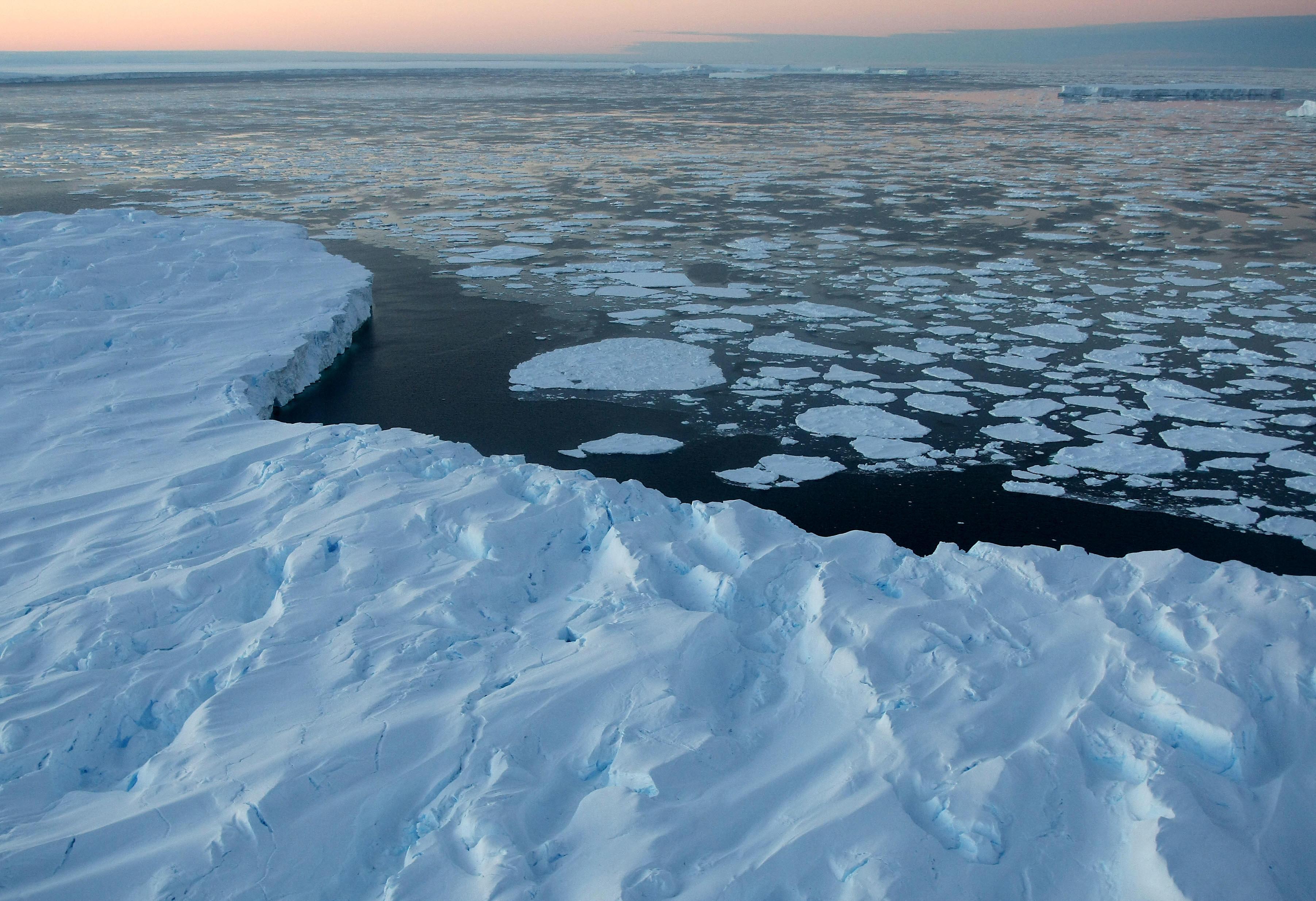 Global warming, climate change, iceberg,