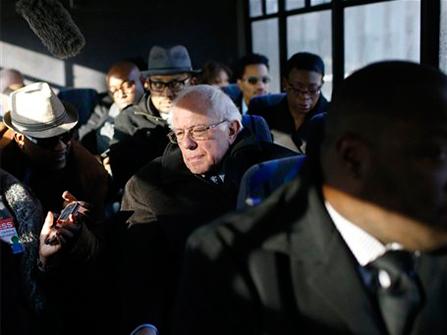 Bernie Sanders Tours Baltimore