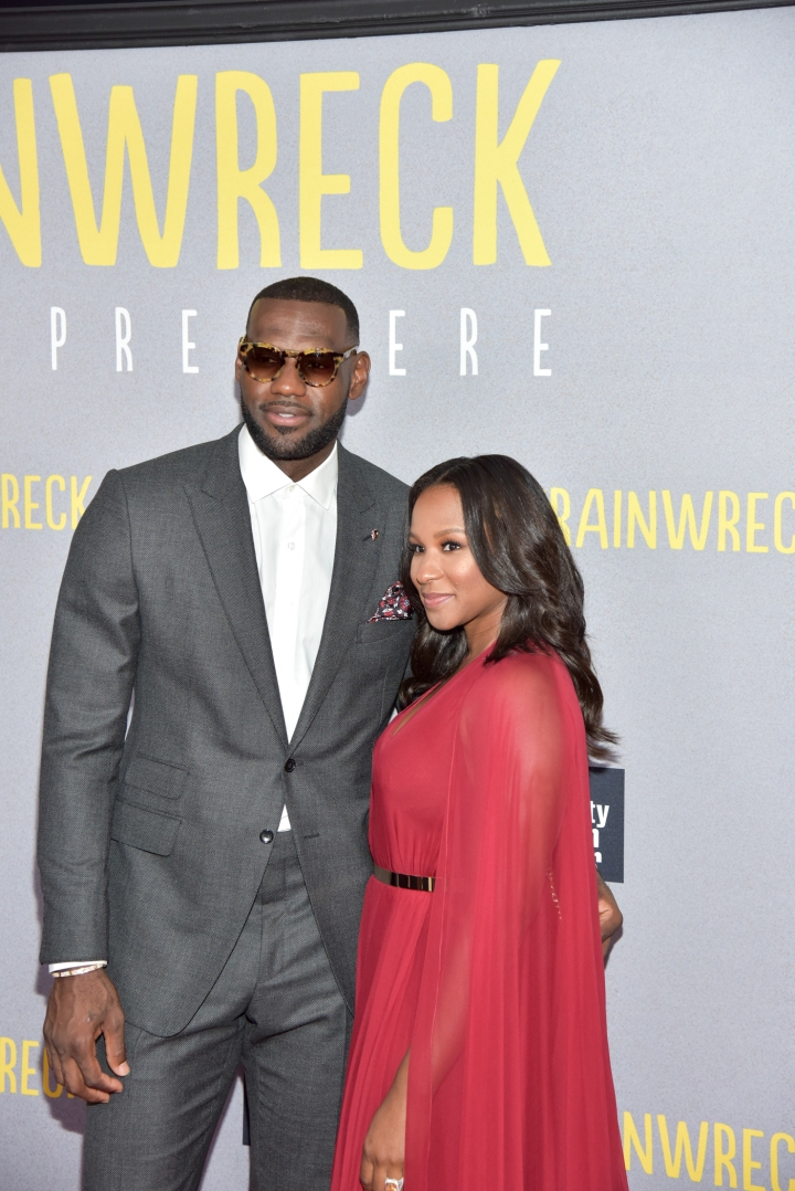 "LeBron James and Savannah Brinson - ""Trainwreck"" New York City Premiere"