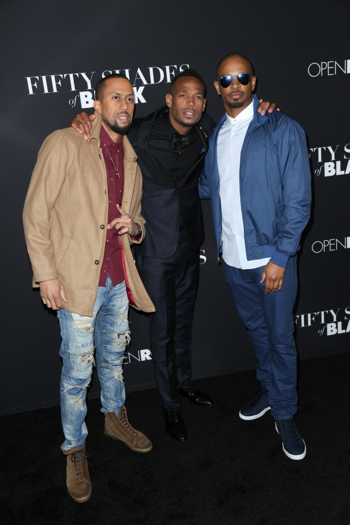 "01/26/2016 - Affion Crockett, Marlon Wayans, Damon Wayans Jr. - ""Fifty Shades of Black"" Los Angeles Premiere - Arrivals - Regal Cinemas L.A. Live - Los Angeles, CA, USA - Keywords: Vertical, Film Premiere, Movie Premiere, Portrait, Photography, Film Industry, Arts Culture and Entertainment, Attending, Celebrities, Celebrity, Person, People, Regal Entertainment Group, Topix, Bestof, LA Live, Open Roads Films, ""50 Shades of Black"", Event, California Orientation: Portrait Face Count: 1 - False - Photo Credit: Guillermo Proano / PR Photos - Contact (1-866-551-7827) - Portrait Face Count: 1"