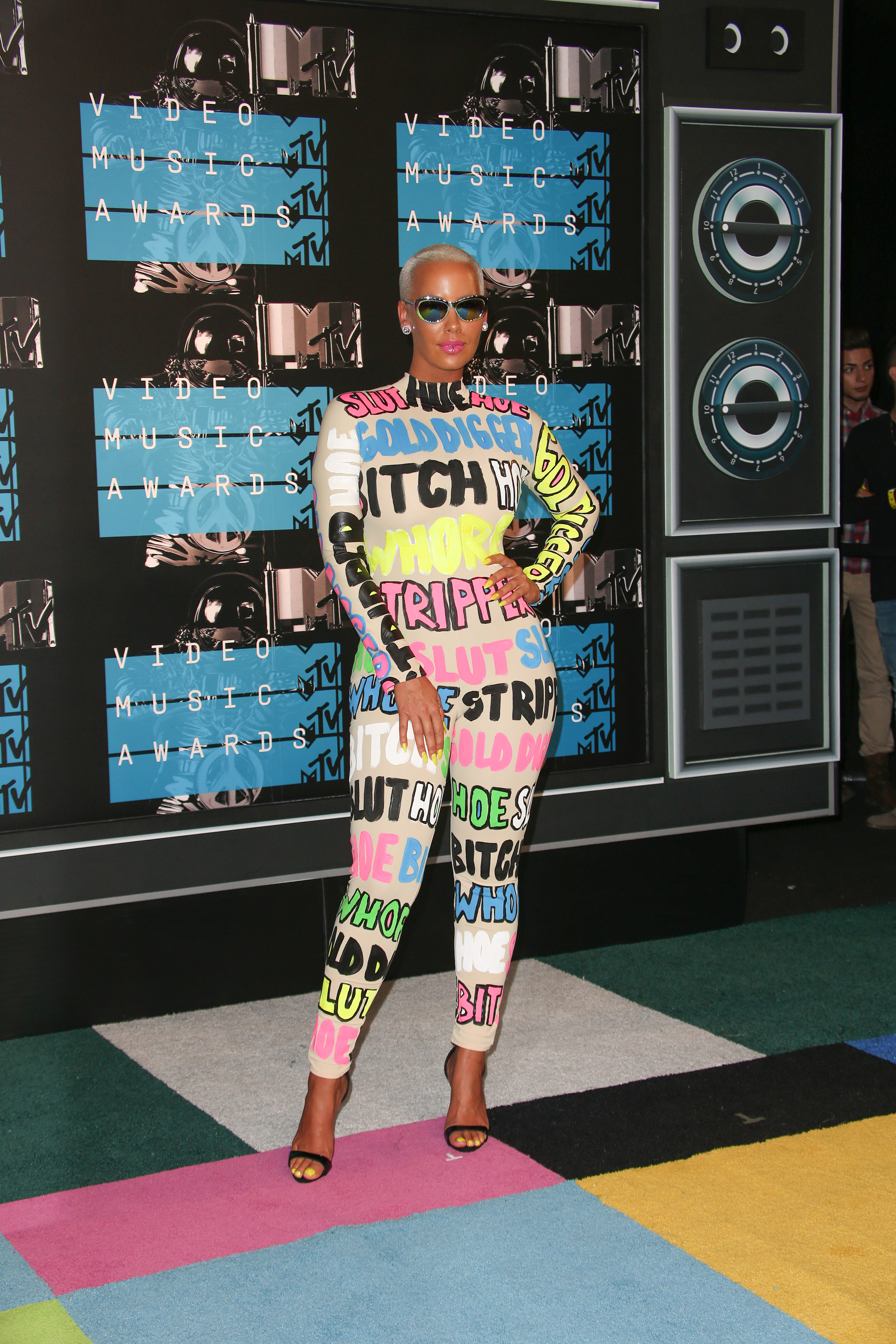08/30/2015 - Amber Rose - 2015 MTV Video Music Awards - Arrivals - Microsoft Theater - Los Angeles, CA, USA - Keywords: Vertical, California, MTV VMA's, Music, Award Show, Portrait, Photography, Arts Culture and Entertainment, Attending, Celebrities, Celebrity, Musician, Arrival Orientation: Portrait Face Count: 1 - False - Photo Credit: PRPhotos.com - Contact (1-866-551-7827) - Portrait Face Count: 1