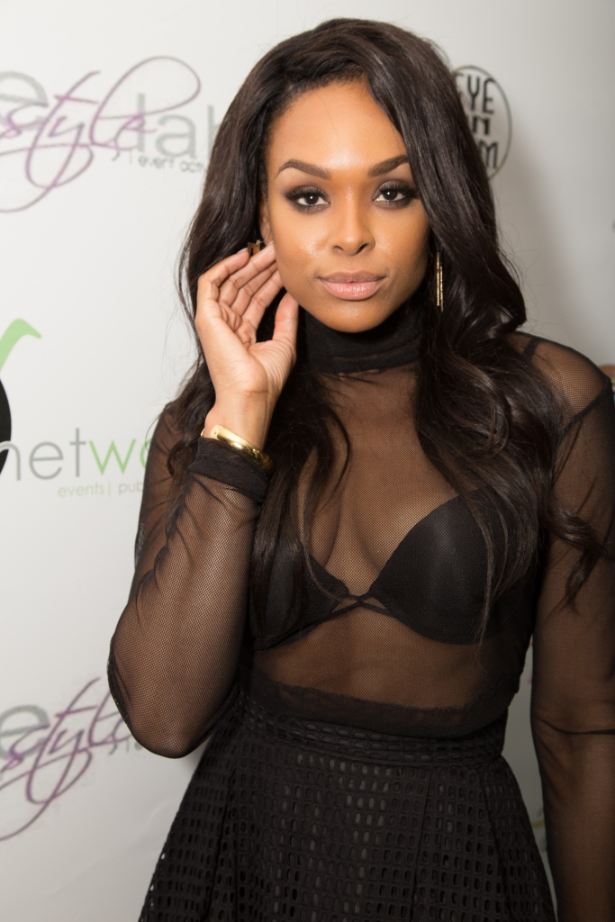 """06/27/2015 - Demetria Mckinney - 3rd Annual """"Eye on Glam"""" Beauty Brunch - The Andaz Hotel - West Hollywood, CA, USA - Keywords: LA Hair, WE TV, BET weekend, Cougar Town,  Mona Scott, Love and Hip hop, Notorious, Biggie, faith evans, LA Hair, The have and the have nots, Tyler perry, basketball wives, real housewives of atlanta, Tamar and Vince Orientation: Portrait Face Count: 1 - False - Photo Credit: CelebLens / PRPhotos.com - Contact (1-866-551-7827) - Portrait Face Count: 1"""