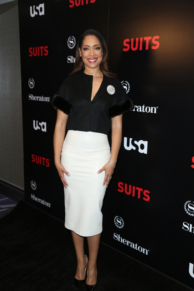 """01/21/2016 - Gina Torres - USA Network's """"Suits"""" Season 5 Los Angeles Premiere - Arrivals - Sheraton Los Angeles Downtown Hotel - Los Angeles, CA, USA - Keywords: Vertical, Theatrical Performance, Downtown District, Television Show, Portrait, Photography, Arts Culture and Entertainment, Celebrities, Celebrity, Person, People, Arrival, Television Show, California Orientation: Portrait Face Count: 1 - False - Photo Credit: Guillermo Proano / PR Photos - Contact (1-866-551-7827) - Portrait Face Count: 1"""