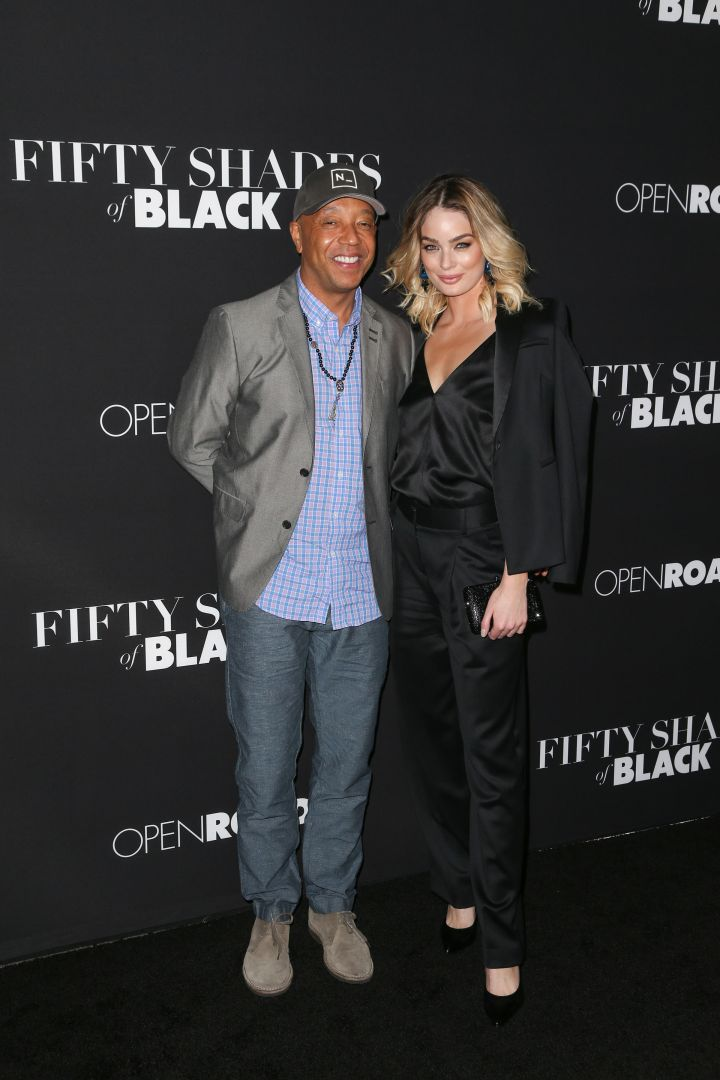 Russell Simmons and his girlfriend