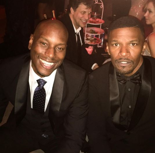 Tyrese and Jamie Foxx at the after party