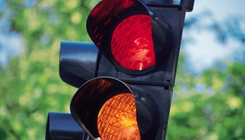 Close-up of stop light