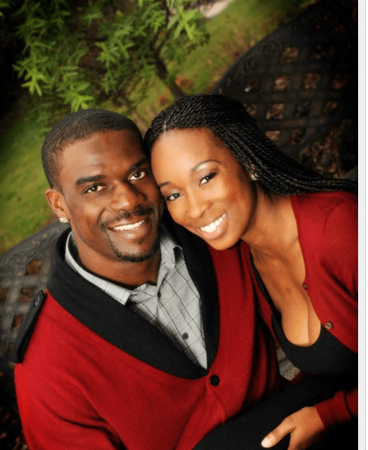 The Panthers' Jericho Klutchery and his wife Mercedes