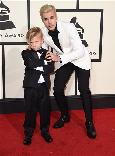 Justin Bieber and his little brother
