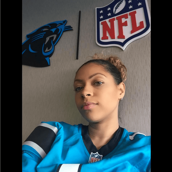 Shakia Proctor supports her man, Cam Newton