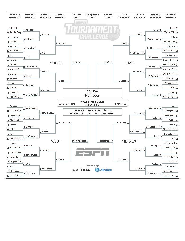 Tournament Challenge - ESPN - TJMS