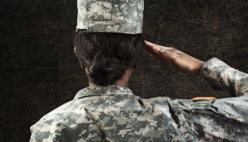 Female African American Soldier Series: Saluting