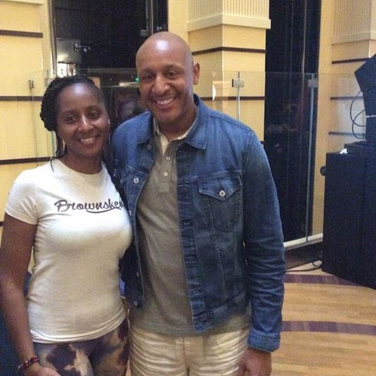 Gospel star Brian Courtney Wilson poses with a fan