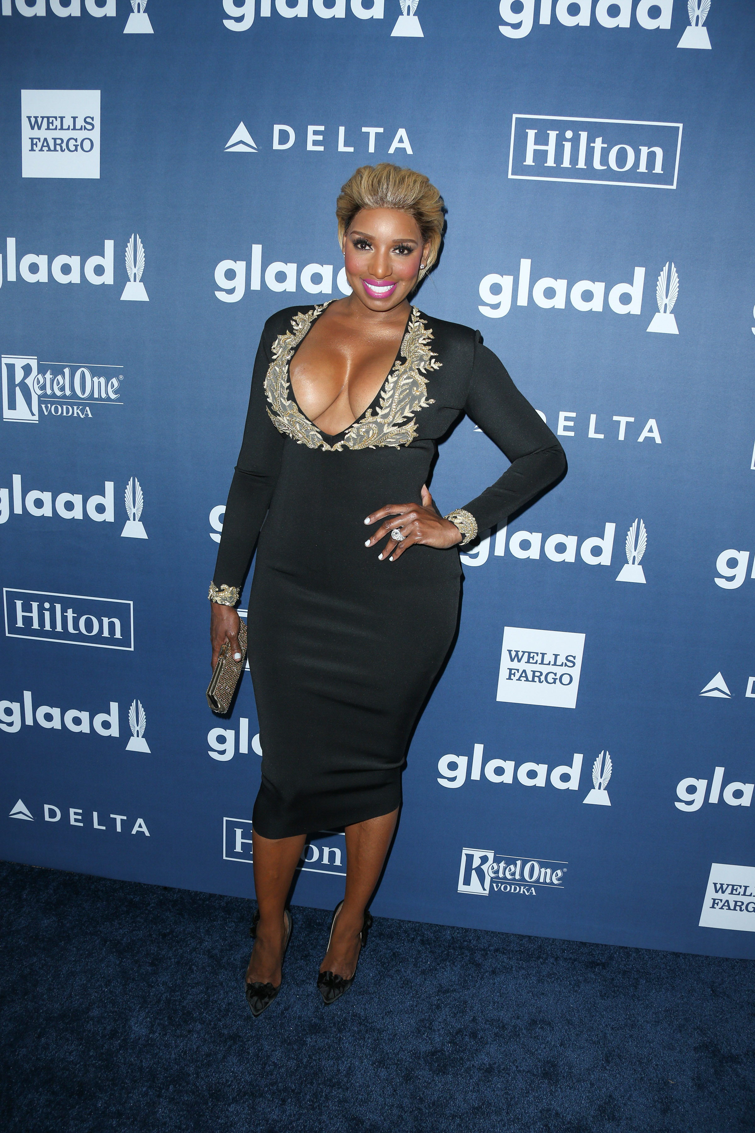 04/02/2016 - NeNe Leakes - 27th Annual GLAAD Media Awards - Arrivals - The Beverly Hilton Hotel - Beverly Hills, CA, USA - Keywords: Vertical, People, Person, Arrival, Portrait, Photography, Arts Culture and Entertainment, Celebrity, Celebrities, Topix, Bestof, Gay & Lesbian Alliance Against Defamation, GLBT, LGBT community, equality, lesbian, gay, bisexual, and transgender, Los Angeles, California Orientation: Portrait Face Count: 1 - False - Photo Credit: PRPhotos.com - Contact (1-866-551-7827) - Portrait Face Count: 1