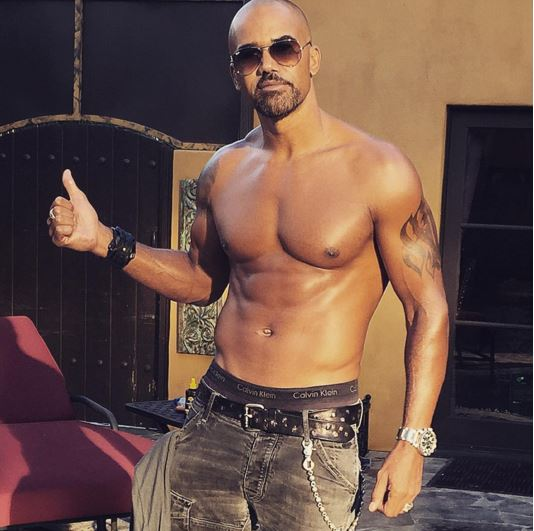 Shemar Moore has always been buff but he' also joined the bald club and he's looking good!