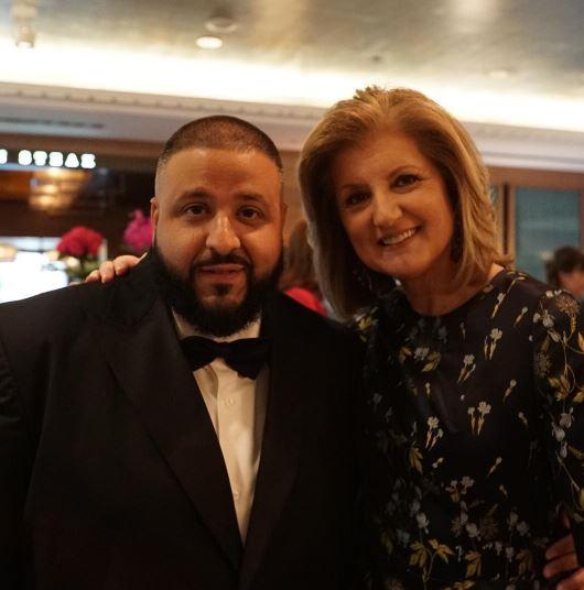 DJ Khaled and Arianna Huffington