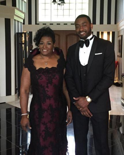 NBA star John Wall and his mom