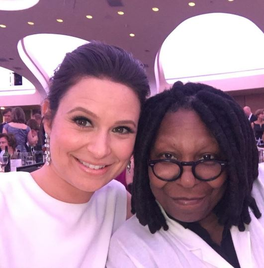 Katie Lowes and Whoopi Goldberg