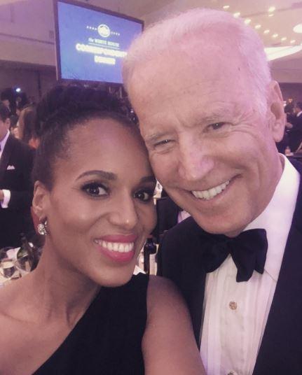Kerry Washington and VP Biden