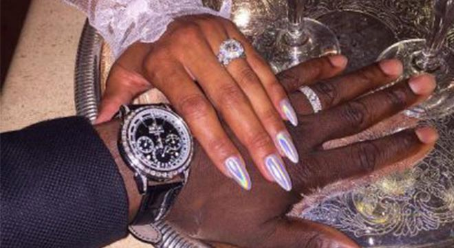 Kevin and Eniko Hart jumped the broom in August.